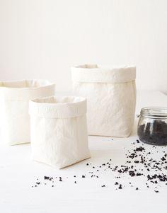 Set of 3 storage baskets. Bathroom storage bin. Fabric containers. Prewashed cotton canvas. Nursery hamper. Kitchen decor Jewelry organizing by DesignByRube on Etsy https://www.etsy.com/au/listing/269873473/set-of-3-storage-baskets-bathroom