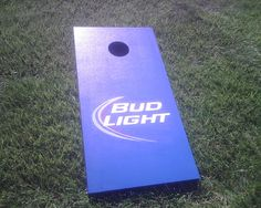 cornhole for the boys. Diy And Crafts, Arts And Crafts, Home Board, Corn Hole Game, Yard Games, Cornhole Boards, Bud Light, Washers, Board Ideas