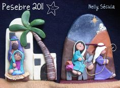 23 Clever DIY Christmas Decoration Ideas By Crafty Panda Christmas Clay, Christmas Jesus, Christmas Nativity, Christmas Projects, Handmade Christmas, Christmas Ornaments, Polymer Clay Ornaments, Polymer Clay Charms, Nativity Scene Sets