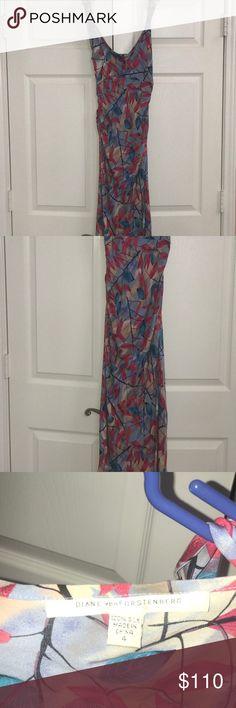 Diane vonFurstenberg Silk Dress , Barely Worn ! Diane vonFurstenberg Silk Dress , In Good Condition ! Diane Von Furstenberg Dresses Maxi