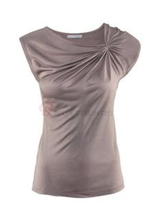 Short Sleeve Pure Colro Slim O-Neck Women Summer Casual T-Shirts on buytrends.com
