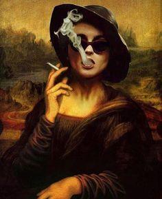 Collage Art by FailunFailunMefailun. FailunFailunMefailun is a Turkish artist who blends the old and the new. Erhan Atay assumed FailunFailunMefailun Surrealista Collage Art by FailunFailunMefailun Monalisa Wallpaper, Mona Lisa Parody, Arte Pop, Art Abstrait, Surreal Art, Funny Art, Aesthetic Art, Collage Art, Collage Drawing