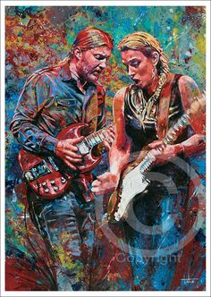 Artist Tom Noll of Creative Bone Artworks creates giclee prints from original canvas painting portrait of Tedeschi Trucks art. Tedeschi Trucks Band, Rock Posters, Concert Posters, Rock N Roll, Susan Tedeschi, Derek Trucks, The Jam Band, Allman Brothers, Truck Art