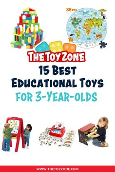 We have created a thoughtful list of some of the most top-selling educational toys for 3-year-olds. These toys are great for boys and girls alike and they teach a variety of skills. Some focus on school-work and teach ABCs and numbers, while others help with their development such as fine-tuning motor skills and coordination. Check out our top 15 list to learn more. Cool Toys For Boys, Best Kids Toys, Upper And Lowercase Letters, Lower Case Letters, Kids Gardening Set, Tuning Motor, Teaching Abcs, Counting Bears, Best Educational Toys