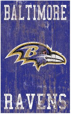 Give your home décor all-star appeal with this Baltimore Ravens wall art. Baltimore Ravens Wallpapers, Baltimore Ravens Logo, Lamar Jackson Ravens, Raven Logo, Logo Sign, National Football League, Wall Signs, Wall Art, Campsite
