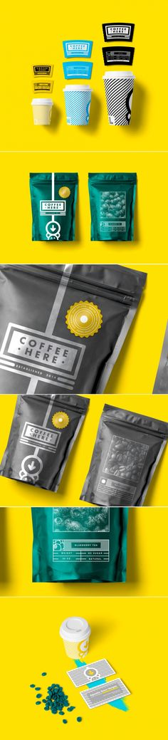 Coffee Here — The Dieline - Branding & Packaging Design