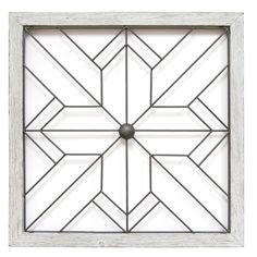 Simple geometric lines create an alluring design inside the Stratton Home Decor Square Metal and Wood Art Deco Wall Decor. The weathered wood frame is finished in softly distressed white. Handmade by artisans, this piece brings unique charm to your wall. Easy Home Decor, Handmade Home Decor, Cheap Home Decor, Window Grill Design, Do It Yourself Home, Bedroom Decor, Wall Decor, Modern Bedroom, Home Decor Inspiration