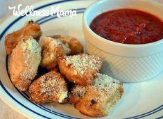 A new take on two classics: Chicken parmesan nuggets combine the flavors of chicken parm with kid-friendly sizes for a family favorite. Wellness Mama, Nuggets Recipe, Healthy Chicken Recipes, Real Food Recipes, Snack Recipes, Cooking Recipes, Kid Recipes, Meat Recipes, Healthy Meals