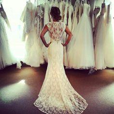 Beautiful lace dress with sexy back