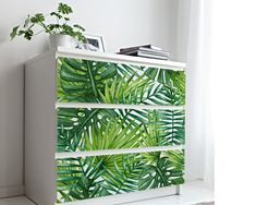 Upgrade your walls with this elegant Tropical Leaves Wall Decor adding an exclusive touch to your personal style and surprise your family and friends. More Wallpaper, Fabric Wallpaper, Simple Addition, Self Adhesive Wallpaper, Tropical Leaves, Cool Patterns, Textured Walls, Furniture Decor, Wall Decor