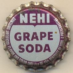 Soda Caps Unused & Cork Lined . oh man! nothing has ever tasted that good! smells JUST like Grape Nehi! always makes my mouth water! Soda Crush, Mash 4077, Soda Brands, Ouma Kokichi, Soda Bottles, Character Aesthetic, Vintage Advertisements, Aesthetic Pictures, Childhood Memories