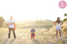 Superhero family. Love this idea!