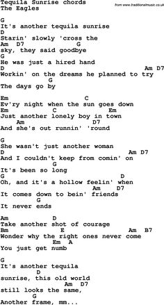 Eagles Songs Lyrics, Great Song Lyrics, Guitar Chords And Lyrics, Guitar Chords For Songs, Guitar Chord Chart, Uke Songs, Music Guitar, Guitar Lessons, Guitar