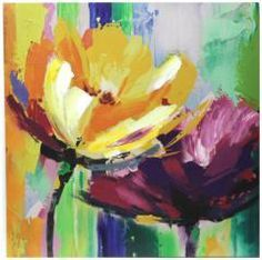 M s de 1000 ideas sobre flores abstractas en pinterest - Cuadros con colores calidos ...