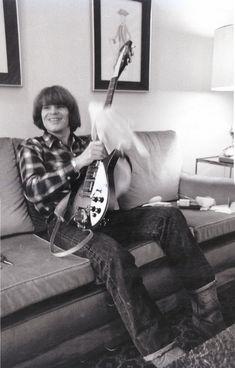 John with a smile and his guitar Rickenbacker Guitar, John Fogerty, Signature Guitar, Creedence Clearwater Revival, Led Zeppelin, Playing Guitar, Classic Rock, Music Stuff, Cool Bands