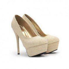 $15.46 Wedding Stiletto Heel Women's Pumps With Bling-Bling Design