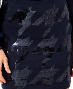Sequined Houndstooth Skirt   FOREVER21 - 2021840008 64 bit