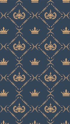 Crown Wallpaper For Your Phone, Computer Wallpaper, Lock Screen Wallpaper, Iphone Wallpaper, Royal Pattern, Crown Pattern, Pattern Art, Royal Wallpaper, Grey Wallpaper