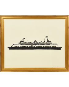 """Shop the """"Ferry Boat"""" by Jennifer Ament and the rest of our designer Wall Art at Serena and Lily. Fine Arts Center, Ferry Boat, Boat Art, Linocut Prints, Art Prints, Wall Art Designs, Art Day, Art Decor, Original Paintings"""