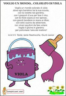 A Scuola con Poldo: Scopriamo i colori: il viola