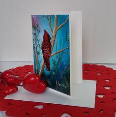 """Format de la carte : 4"""" x 6"""" (10,16 x 15,24 cm), sur carton de type Cool white avec enveloppe blanche.  L'image représente une photo d'une toile réalisée par l'artiste Lucy Patoine. Inscrivez votre propre message. Pour vous inspirer, nous vous invitons à télécharger des textes sur le thème de l'amour pour la St-Valentin. Vous retrouvez """"Les carnets de Madame Paraci"""" sur notre boutique en ligne www.conceptionidecrea dans la section """"St-Valentin"""" Inspirer, Madame, Photos, Boutique, Painting, Etsy, Greeting Card, Pretty Cards, Notebooks"""