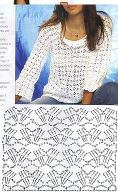blusa de manga longa de croche - Elisiane Severo - Álbuns da web do Picasa