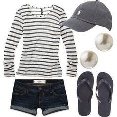 Comfy outfit... I'd swap it for jcrew navy chino shorts though. #fashion by pr1eta