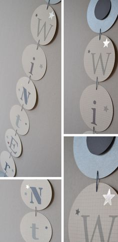 winter garland - love this idea for a Christmas theme instead