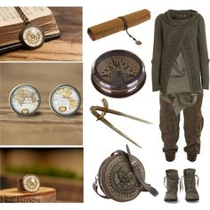Map Maker by maggiehemlock on Polyvore featuring Object Collectors Item, AllSaints, OTBT, Retrò and Flamant