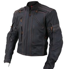 Vulcan Men's VTZ-910 Street Motorcycle Jacket - LeatherUp.com