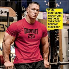 Bodybuilding john-cena-motivation - Whether they're motivating or entertaining, these jacked superstars know just what to say. Muscle Fitness, Muscle Men, Fitness Diet, Fitness Goals, Mens Fitness, York Fitness, Health Fitness, Gain Muscle, Bodybuilding Quotes