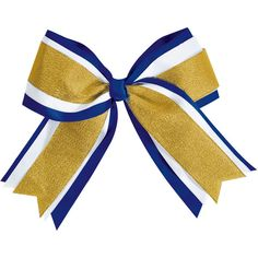 Chassé Jumbo 3-Color Metallic Hair Bow (€4,16) ❤ liked on Polyvore featuring cheer, cheerleader, accessories and sport