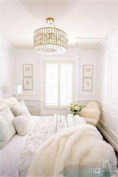 Nov 9, 2018 - Glam Guest Bedroom Makeover with wainscoting, luxurious velvet and...#bedroom #glam #guest #luxurious #makeover #nov #velvet #wainscoting Cozy Bedroom, Home Decor Bedroom, Girls Bedroom, Bedroom Furniture, Master Bedroom, Bedroom Ideas, Bedroom Designs, Glam Bedroom, Master Suite
