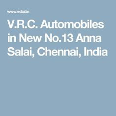 V.R.C. Automobiles in New No.13 Anna Salai, Chennai, India