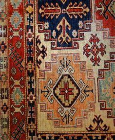 Turkish carpet, details of patterns in oriental design            Stock Photo