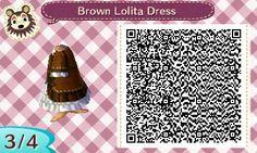 Brown Lolita Dress   QRCrossing.com