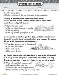 Reading Comprehension Practice Worksheet   Reading comprehension ...
