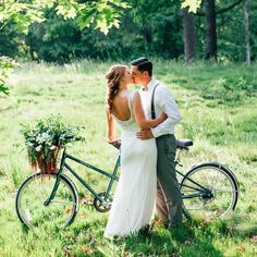 We already have a tandem. Somebody needs to decorate it so we can ride away! Tandem, Bike Photography, Wedding Photography, Bicycle Wedding, Hugs And Cuddles, Informal Weddings, Wedding Photo Booth, Wedding In The Woods, Vintage Country