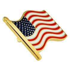 PinMart/'s 2021 American Flag Patriotic Year Enamel Lapel Pin