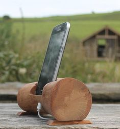 This smartphone docking station is made from a piece of Red Oak branch that grew in West Cork Ireland and which I found broken from the tree after a storm that night. Oak is famed for its use in making the old English sailing ships and for its strength, it is also known as the king