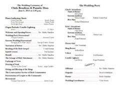 Wedding Program Template Diy Ceremony Program Printable Black