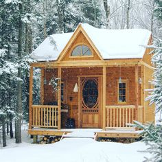 We're waking in a winter wonderland! A little cottage in the woods may be just the kind of getaway you're looking for our Canmore cabin will keep you cozy. by summerwood_products