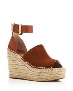 Marc Fisher LTD. Adalyn Ankle Buckle Espadrille Platform Wedge Sandals   Bloomingdale's