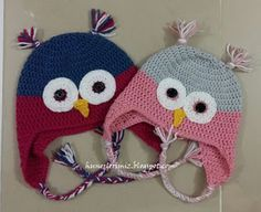 Hünerlerimiz: Baykuş Bere Yapılışı (Tığ işi) - Crochet Owl Hat Pattern