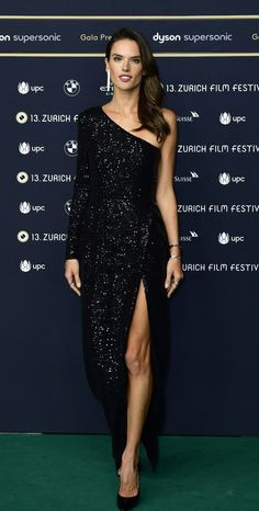Alessandra Ambrosio attends the 'Dyson' premiere at the 13th Zurich Film Festival. #bestdressed