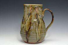 Large 24 oz Stein Mug Handmade Studio Pottery by Elena Madureri  - Handmade wheel thrown pottery mug coffee cup beer stein - Functional pottery