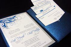 navy and grey wedding invitations | Blue (Navy) and Silver Vietnamese Wedding Invitations | Flickr - Photo ...
