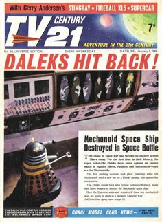Cover Daleks Doctor Who Doctor Who, Thunderbirds Are Go, Second Doctor, Sci Fi Tv, Animation, Dalek, Classic Comics, Fun Comics, Retro Toys