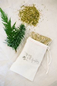 Scented DIY Pine Sachets from Style Me Pretty Living | How To Instructions Here: http://www.stylemepretty.com/living/2012/12/16/smp-at-home-diy-pine-sachets | Photo via WhiteLoftStudio.com | DIY Project on #SMPLiving