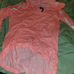 Cute live love dream collection shirt. Nwot. Live love dream collection coral sweater. Washed but never worn. Make me an offer!(: Aeropostale Sweaters V-Necks